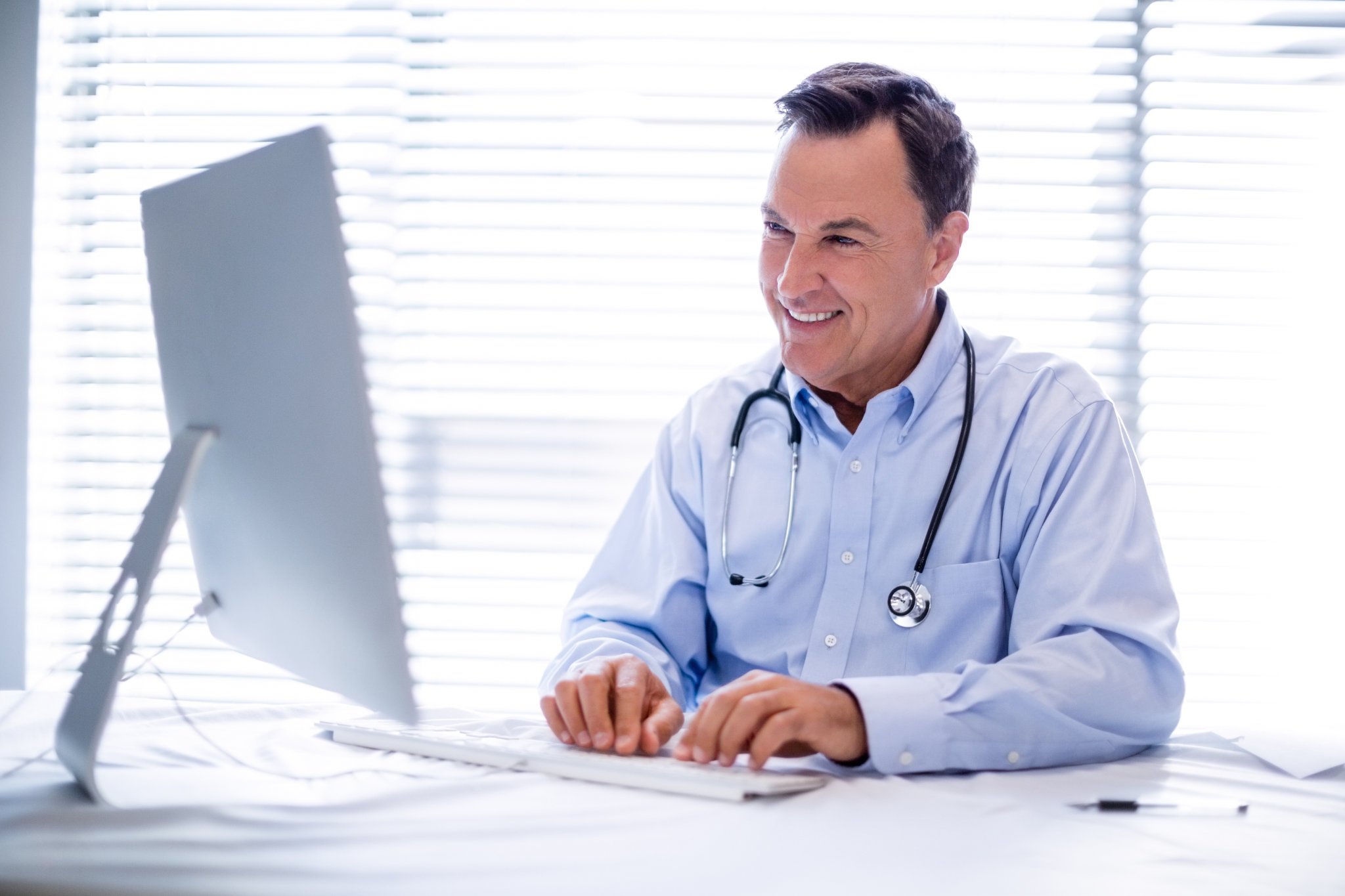 Doctor at Computer